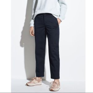 NWT vince Navy Stretch Cotton Cropped Career Pants
